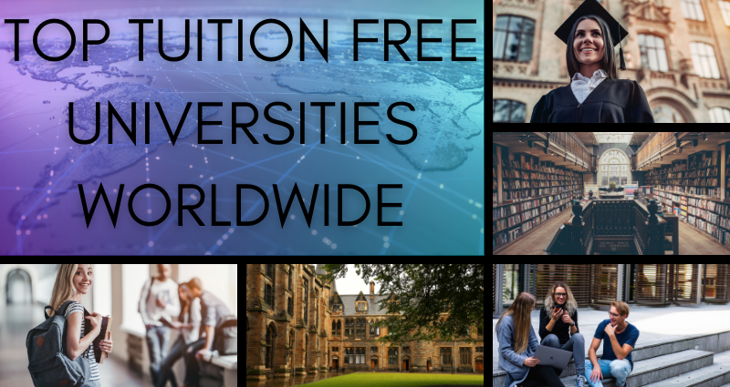 top tuition free universities worldwide